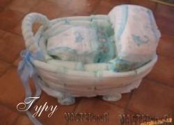 Ксения 68 - Подарок новорожденному из памперсов