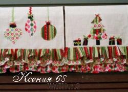 Ксения 68 - Аппликация на вафельном полотенце