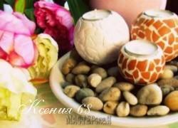 Ксения 68 - Подсвечники из пенопласта с яичной мозаикой