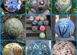 Ксения 68 - Гипсовые шары с мозаикой.МК