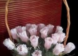 Ксения 68 - Букеты из конфет. Мастер-класс бутона розы