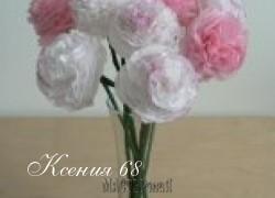 Ксения 68 - Цветы из кальки. Легко и просто!