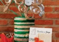 Ксения 68 - Вазы и цветы из газетных трубочек
