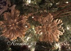 Ксения 68 - Снежинки из старых книжных страниц. МК