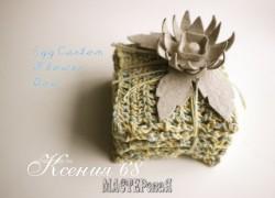 Ксения 68 - Цветы из контейнеров для яиц. Мастер класс