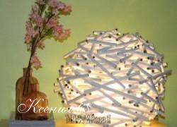Ксения 68 - Оригинальный светильник из газетных трубочек.МК
