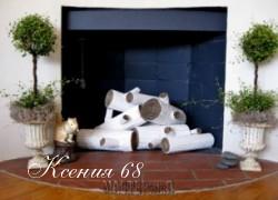 Ксения 68 - Березовые поленья из гофрокартона для украшения камина. МК