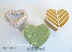 Ксения 68 - Шкатулки в форме сердца. МК