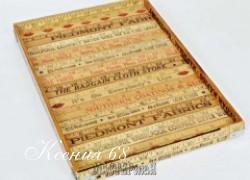 Ксения 68 - Поднос из деревянных линеек в винтажном стиле