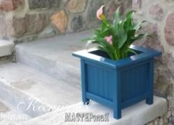 Ксения 68 - Деревянная кадка для цветов. МК