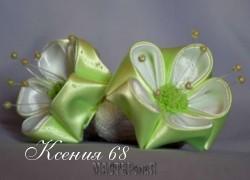 Ксения 68 - Цветы из атласных лент. Канзаши. МК