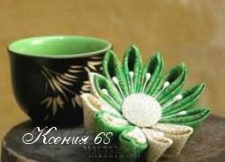 Ксения 68 - Цветок в волосы (канзаши)