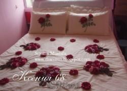 Ксения 68 - Королевское украшение покрывал. Идеи и МК розы из лент