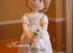 Ксения 68 - Принцесса. Скульптурно-текстильная кукла