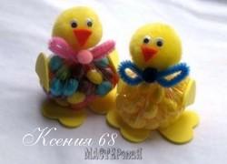 Ксения 68 - Цыплята из помпонов с сюрпризом