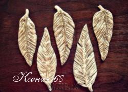 Ксения 68 - Перья из соленого теста. Мастер класс