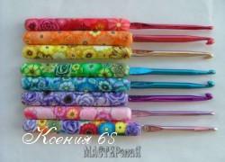 Ксения 68 - Ручки для вязальных крючков из полимерной глины