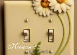 Ксения 68 - Выключатели с лепниной из холодного фарфора