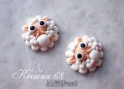 Ксения 68 - Барашки из полимерной глины. МК