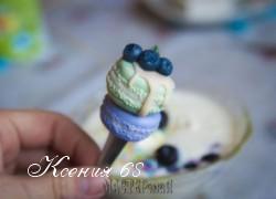 Ксения 68 - Ложечка с декором из полимерной глины