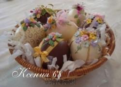 Ксения 68 - Розочки из мастики для украшения шоколадных  яиц