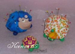 Ксения 68 - Игольницы: ёжик, черепаха и улитка. МК