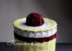 Ксения 68 - Корзинки с джинсовой тканью и велюром. Фотоидея