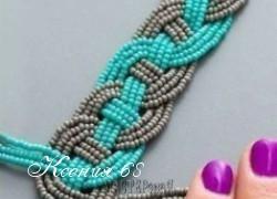 Ксения 68 - Плетем браслет из бисерных нитей