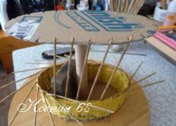 Ксения 68 - Как сделать форму для плетения корзинок из газет