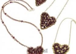 Ксения 68 - Кулон Сердце из бисера. МК