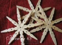 Ксения 68 - Снежинки из деревянных прищепок