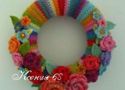 Ксения 68 - Праздничный венок крючком