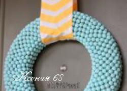 Ксения 68 - Венок на Пасху из жевательной резинки