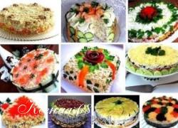 Ксения 68 - Праздничные салаты в виде тортов. 10 рецептов