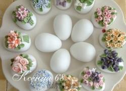 Ксения 68 - Сахарные Пасхальные яйца на белке. Рецепт