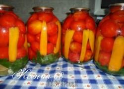 Ксения 68 - Маринованные помидоры с болгарским перцем