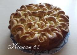 Ксения 68 - Мой пирог Букет роз с персиковым джемом