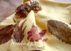 Ксения 68 - Салфетки из ткани с листьями.МК