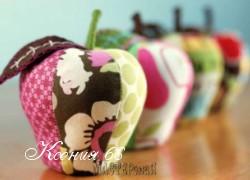 Ксения 68 - Шьем текстильные яблочки