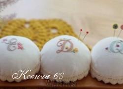 Ксения 68 - Иголницы с вышивкой и кружевами