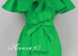 Ксения 68 - Платье с воланом