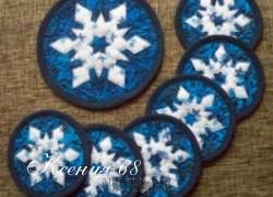 Ксения 68 - Новогодние салфетки и украшения в стиле пэчворк.Только идеи
