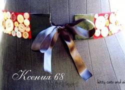 Ксения 68 - Стильный пояс с пуговицами. МК