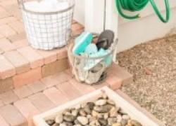 Ксения 68 - Поддон с галькой для мытья ног и обуви в саду