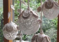 Ксения 68 - Светильники из ниток с вязаными крючком мотивами