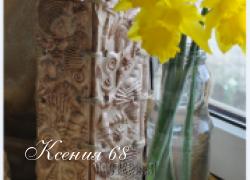 """Ксения 68 - Гипс MK - Ваза """"Морская"""""""