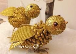 Ксения 68 - Очень красивые птички из шишек