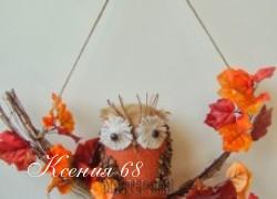Ксения 68 - Совушки из мешковины. МК