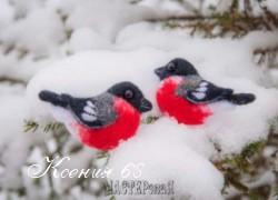 Ксения 68 - Шерстяные снегири. Сухое валяние