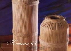 Ксения 68 - Напольная ваза из газетных трубочек